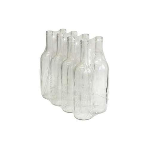 Butelka na wino 0,75L biała 8 sztuk