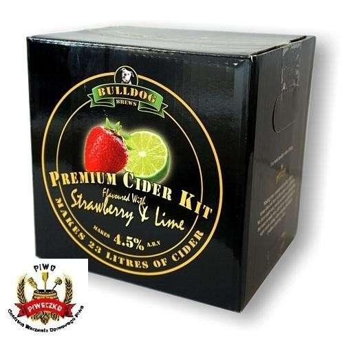 BULLDOG  Strawberry & Lime Cider Kit  3,0 kg  zestaw do wyrobu 23 litrów cydru o smaku truskawki z limonką