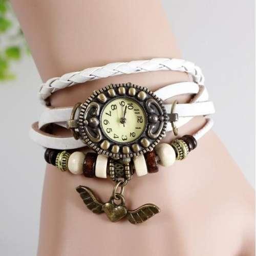 Retro zegarek na prezent ZEGARKI BRANSOLETKA serce 7 kolorów