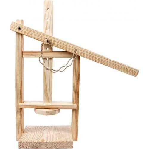 Drewniana prasa do serów