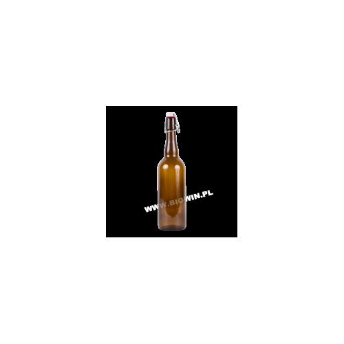 Butelka na piwo 750 ml z korkiem hermet.