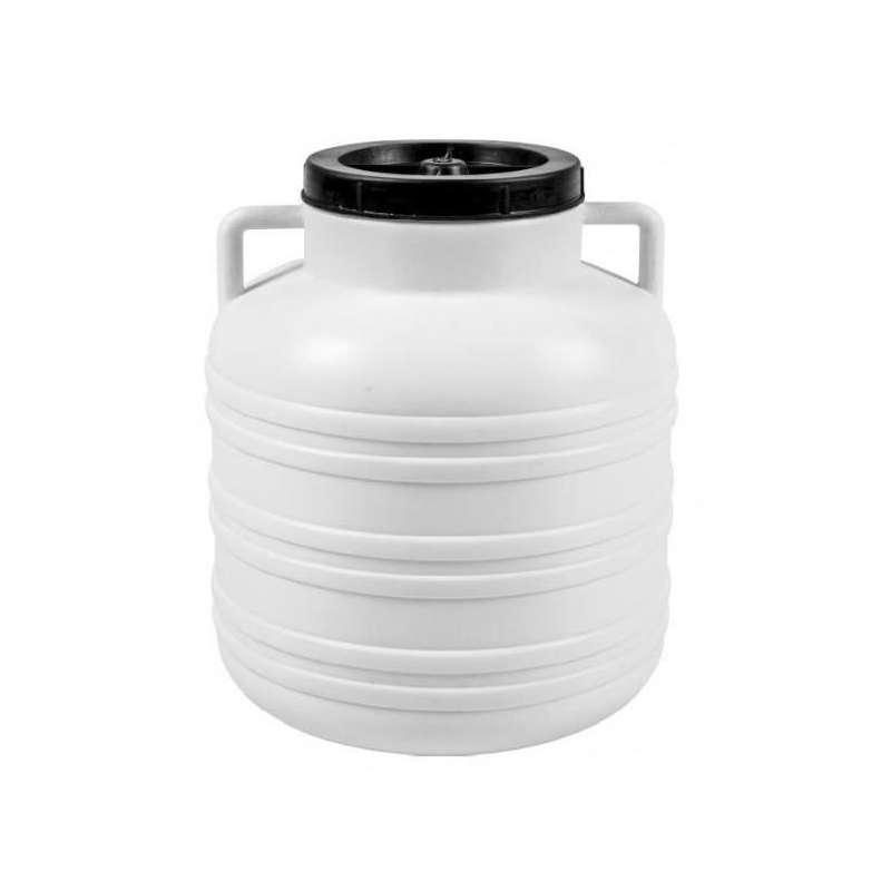 Beczka Kiszonka - biała, uchwyty, 20 L