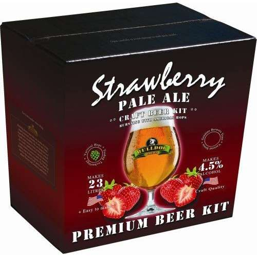Bulldog Strawberry Pale Ale brew-kit 3.1 kg (23 litry piwa)