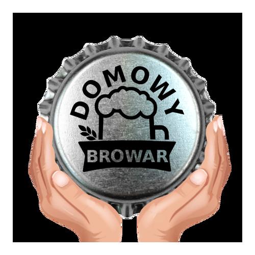 Kapsel srebrny, nadruk czarny DOMOWY BROWAR 50 szt