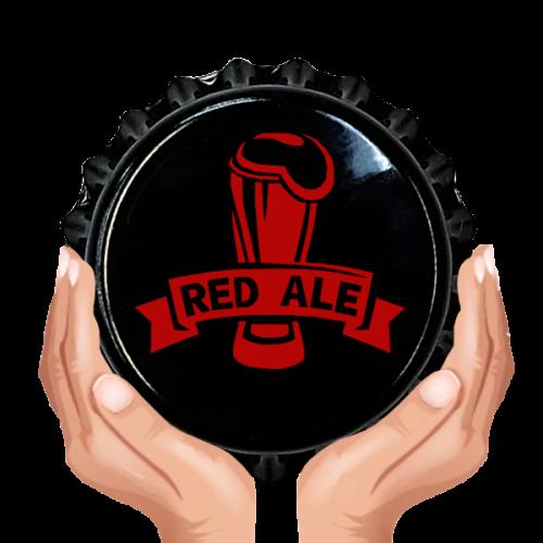 Kapsel czarny, nadruk czerwony RED ALE 50 szt.