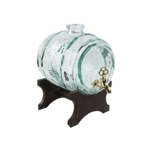Beczułka szklana, karafka 2 L z kranem