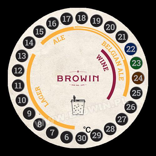 Termometr ciekłokrystaliczny, samoprzylepny - do fermentacji piwa i wina