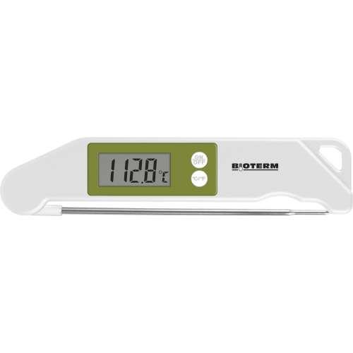 Składany elektroniczny termometr spożywczy - zielony