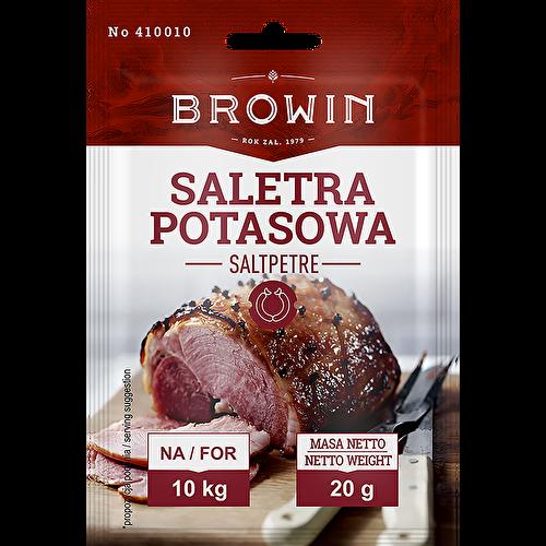 Saletra potasowa do peklowania mięsa.