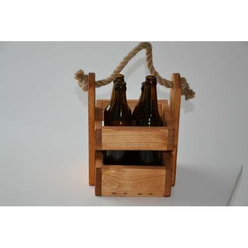 Nosidełko na butelki skrzynka piwopak - 4 butelki