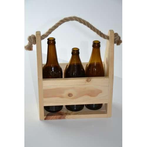 Nosidełko na butelki skrzynka piwopak - 3 butelki