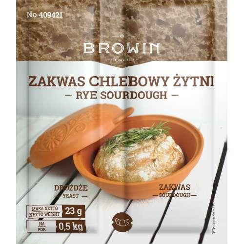Zakwas chlebowy żytni z drożdżami i słodem 23g