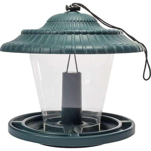 Plastikowy karmnik dla ptaków - zielony