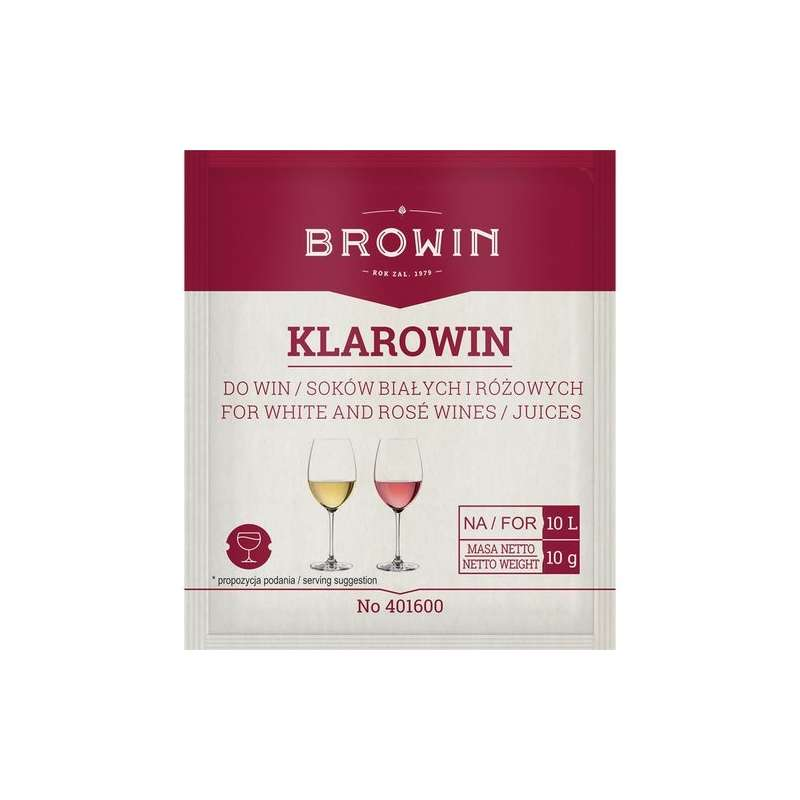 Klarowin 10g  do klarowania win różowych i białych
