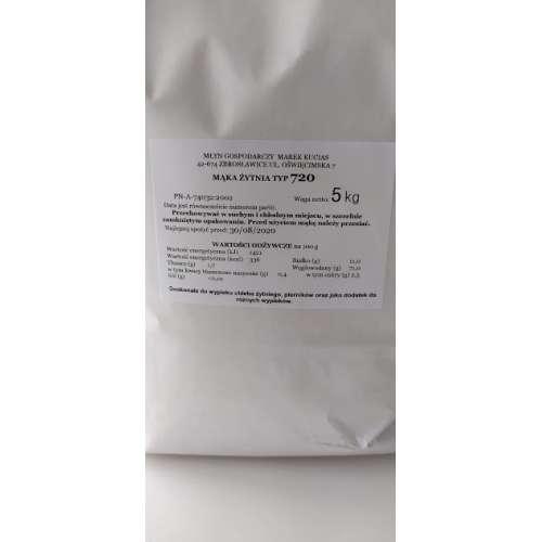Mąka Żytnia TYP 720 5kg prosto z Młyna