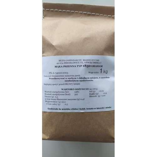 Mąka Pszenna TYP 1850 Graham 1 kg prosto z Młyna