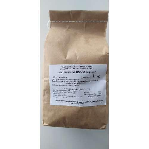 Mąka Żytnia TYP 2000 Razowa 1 kg
