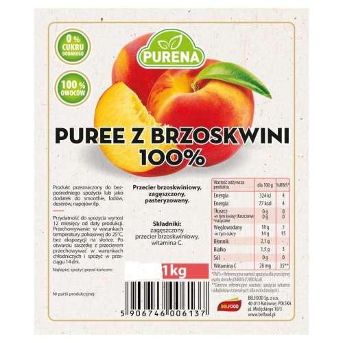 Przecier Puree Brzoskwiniowe 100% 1kg