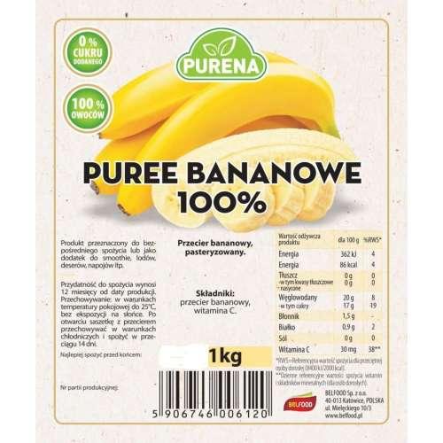 Przecier Puree Bananowe  100% 1kg