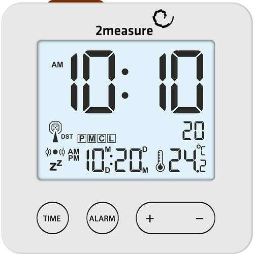Stacja pogody z budzikiem - elektr RCC termometr