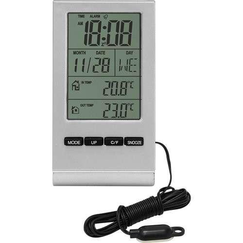 Elektroniczna stacja pogody-termometr wew/zew
