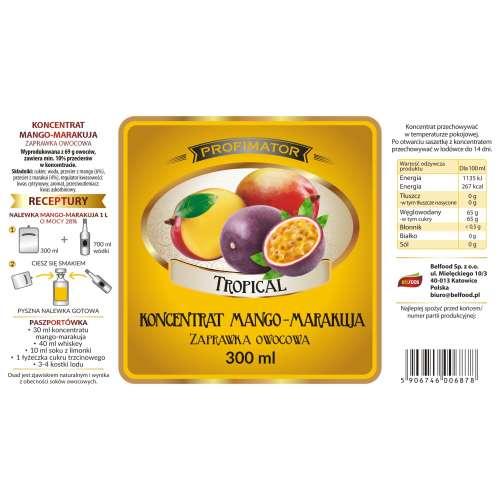 Koncentrat owocowy MANGO-MARAKUJA