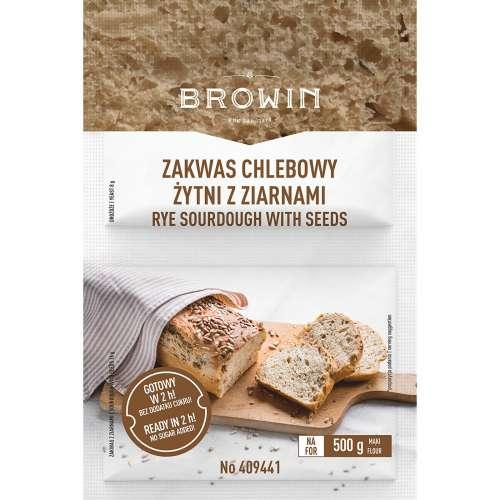 Zakwas chlebowy żytni z ziarnami i drożdżami 24 g