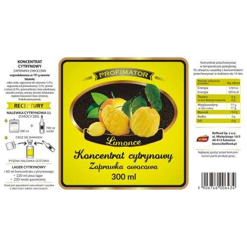 Koncentrat owocowy CYTRYNOWY LIMONCE