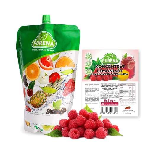 Lemoniada malina-cytryna-mięta (koncentrat) 6l/1kg