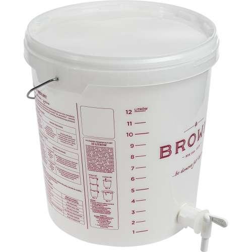 Pojemnik fermentacyjny 15 L z pokrywką i kranem