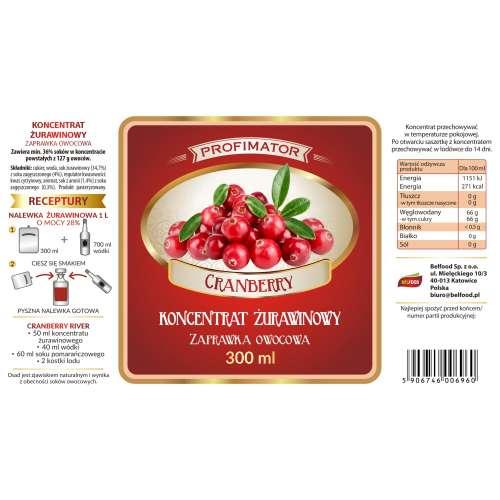 Koncentrat owocowy ŻURAWINOWY Cranberry