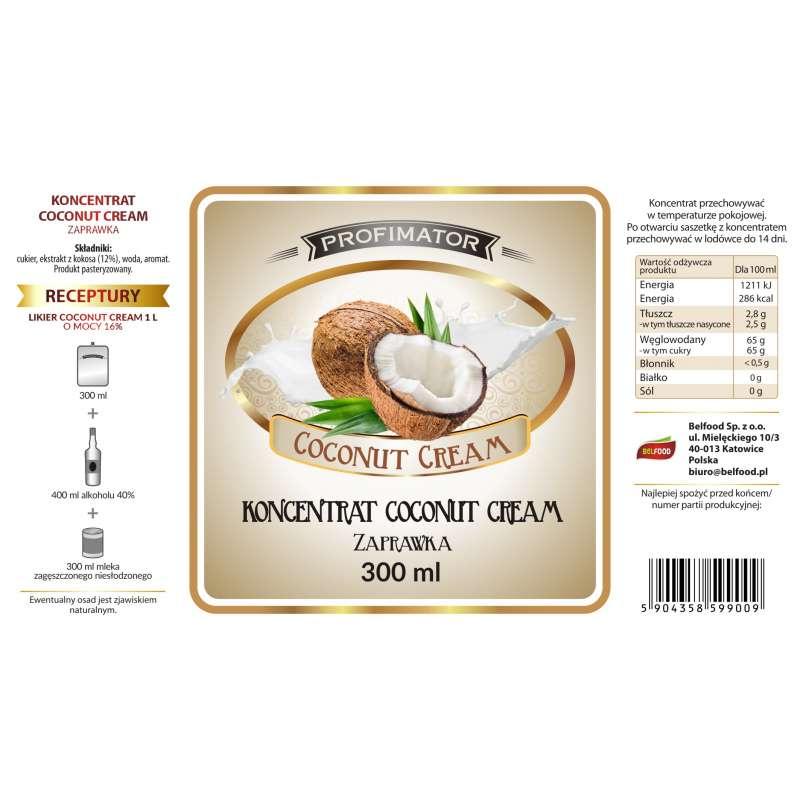 Koncentrat owocowy kokosowy COCONUT CREAM