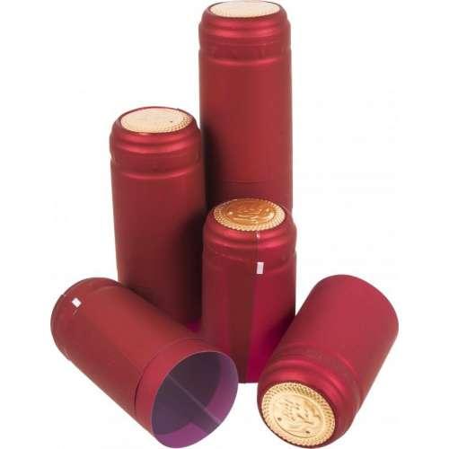 Kapturki z perforacją czerwone fi 31mm 100szt.
