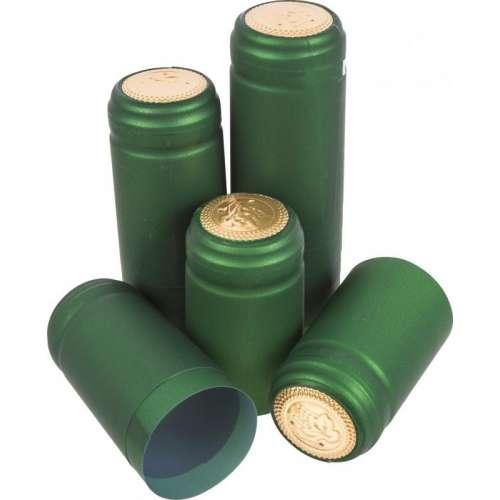 Kapturki z perforacją zielone fi 31mm 100szt.